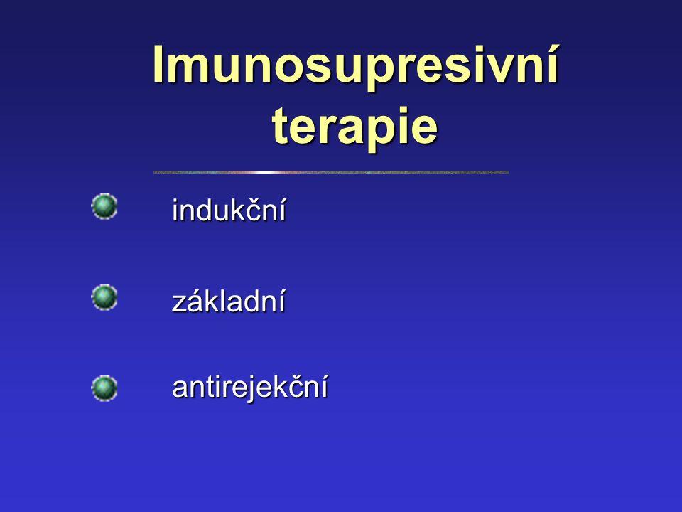 Imunosupresivní terapie indukční základní antirejekční