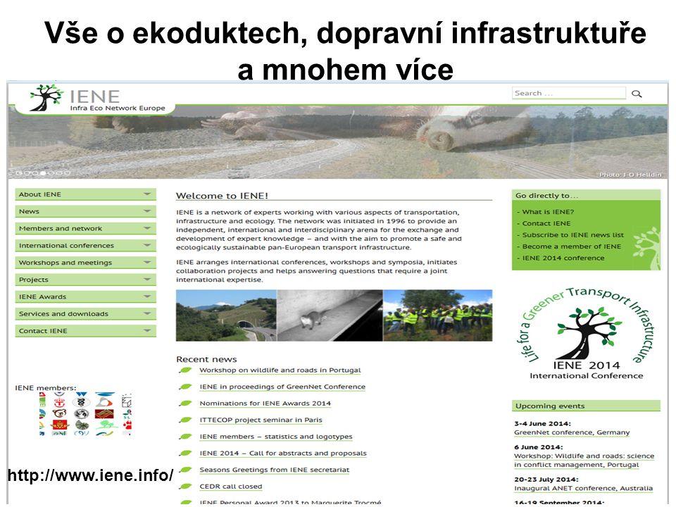 Vše o ekoduktech, dopravní infrastruktuře a mnohem více http://www.iene.info/