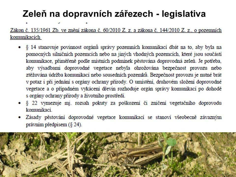 Dálniční náspy: náhradní stanoviště pro stepní druhy pavouků (hlavně při jižní a západní orientaci) D1 u Brna – slíďák slunomilný, teplomil Schinerův, skákavka úzká