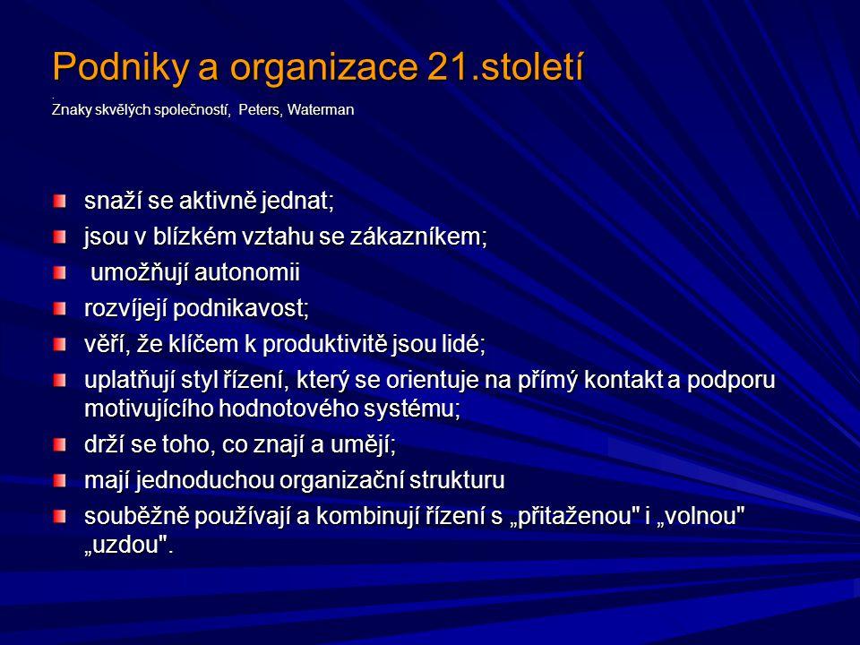 Podniky a organizace 21.století.