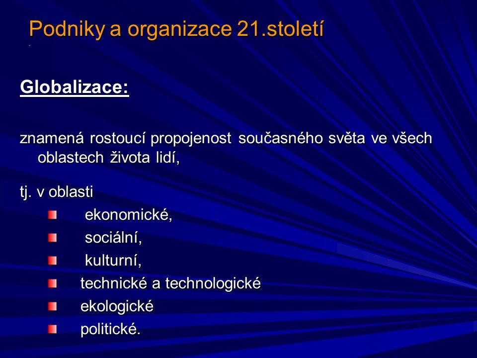 Podniky a organizace 21.století.Podniky a organizace 21.století.