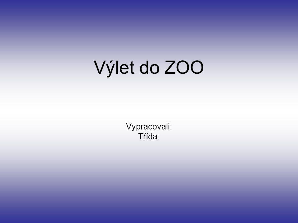 Výlet do ZOO Vypracovali: Třída: