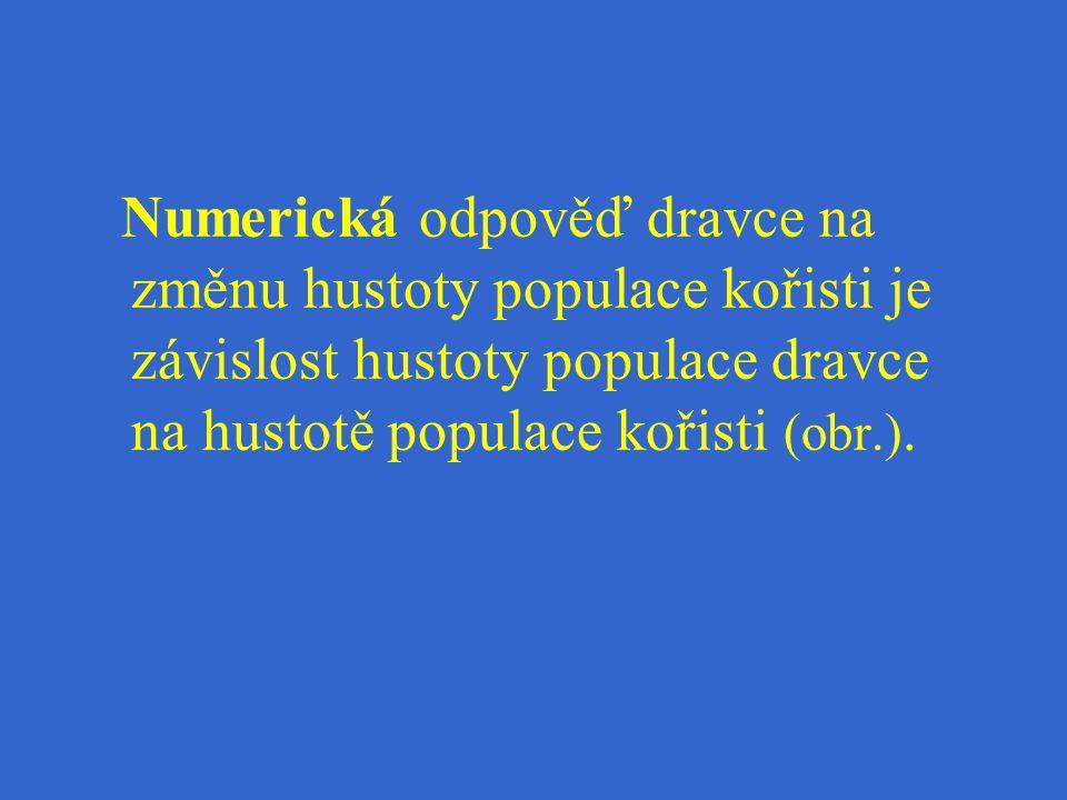 Numerická odpověď dravce na změnu hustoty populace kořisti je závislost hustoty populace dravce na hustotě populace kořisti (obr.).