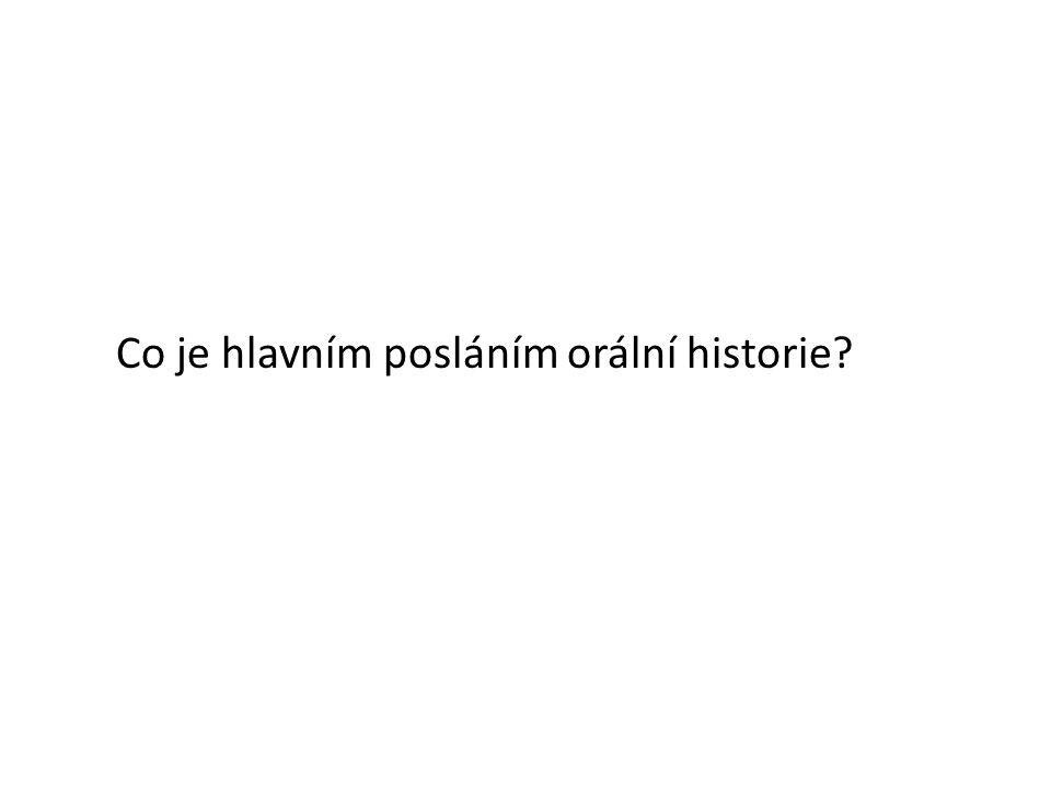 Rady pro vedení rozhovoru ( www.coh.usd.cas.cz Interview není dialog.