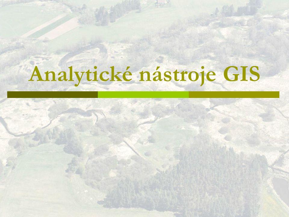 Analytické nástroje GIS