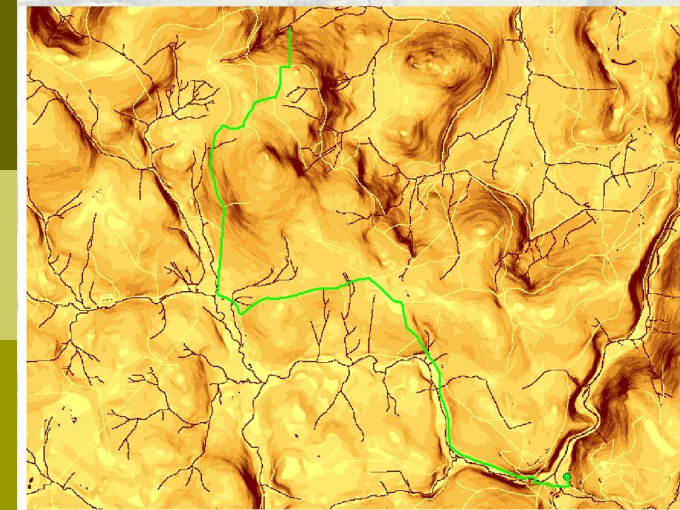 Vážená vzdálenost ! zachycuje i ostatní faktory kromě přímé vzdálenosti  vliv terénu (horizontální faktor)  vertikální faktor – náročnost překonání
