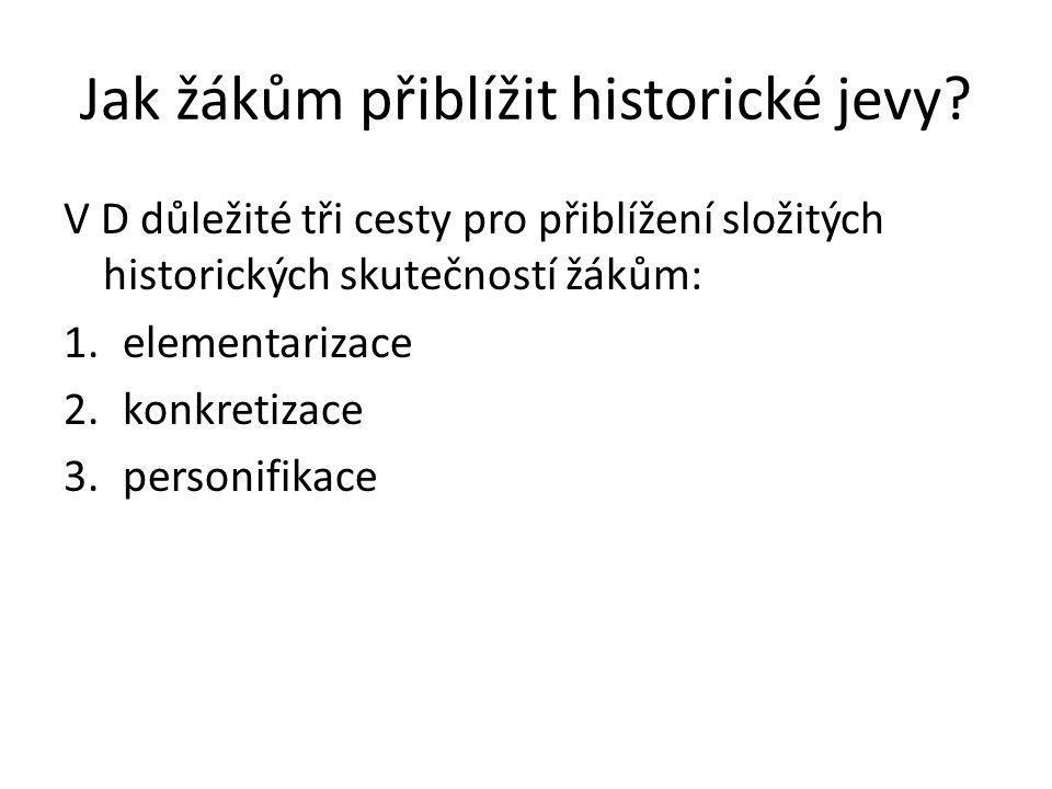Jak žákům přiblížit historické jevy.