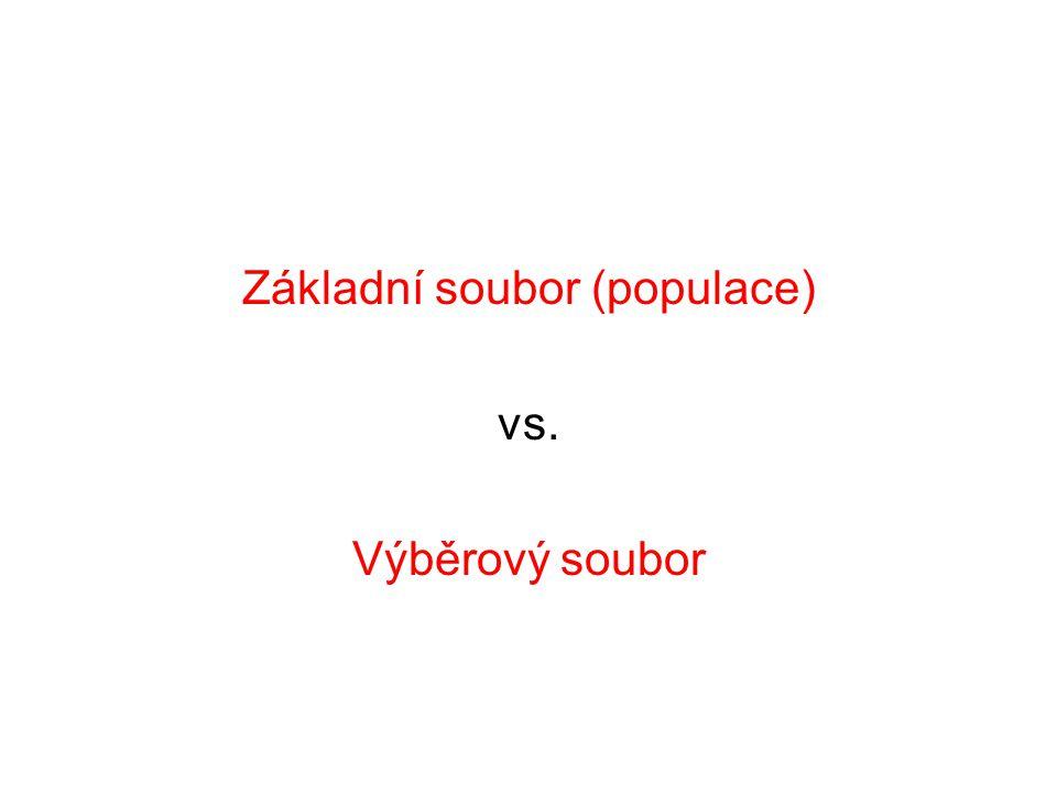 Základní soubor (populace) vs. Výběrový soubor