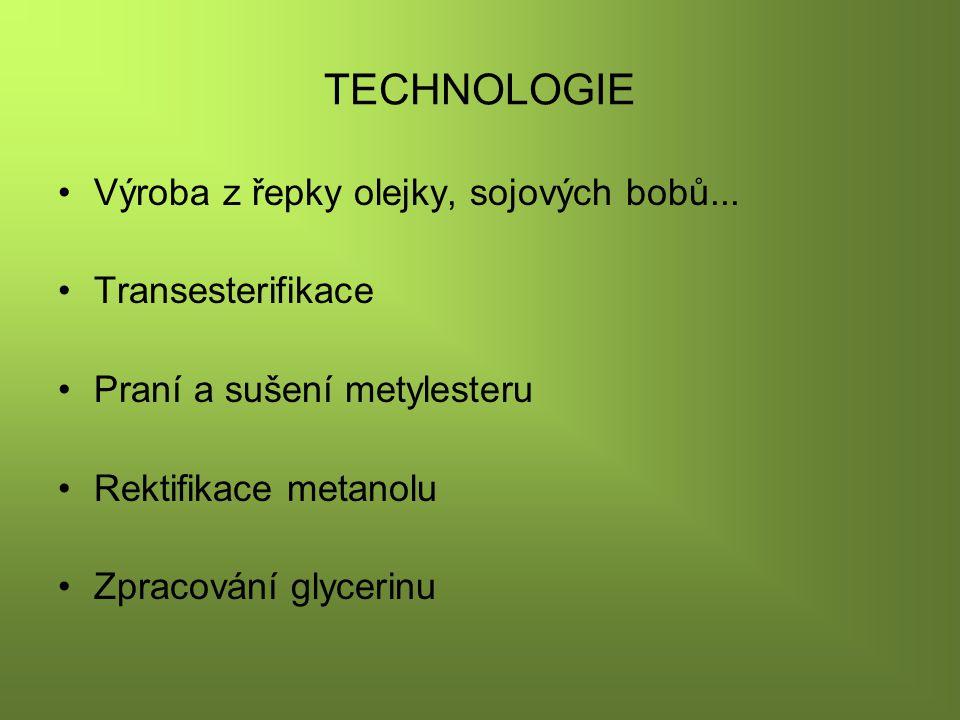 TECHNOLOGIE Výroba z řepky olejky, sojových bobů...
