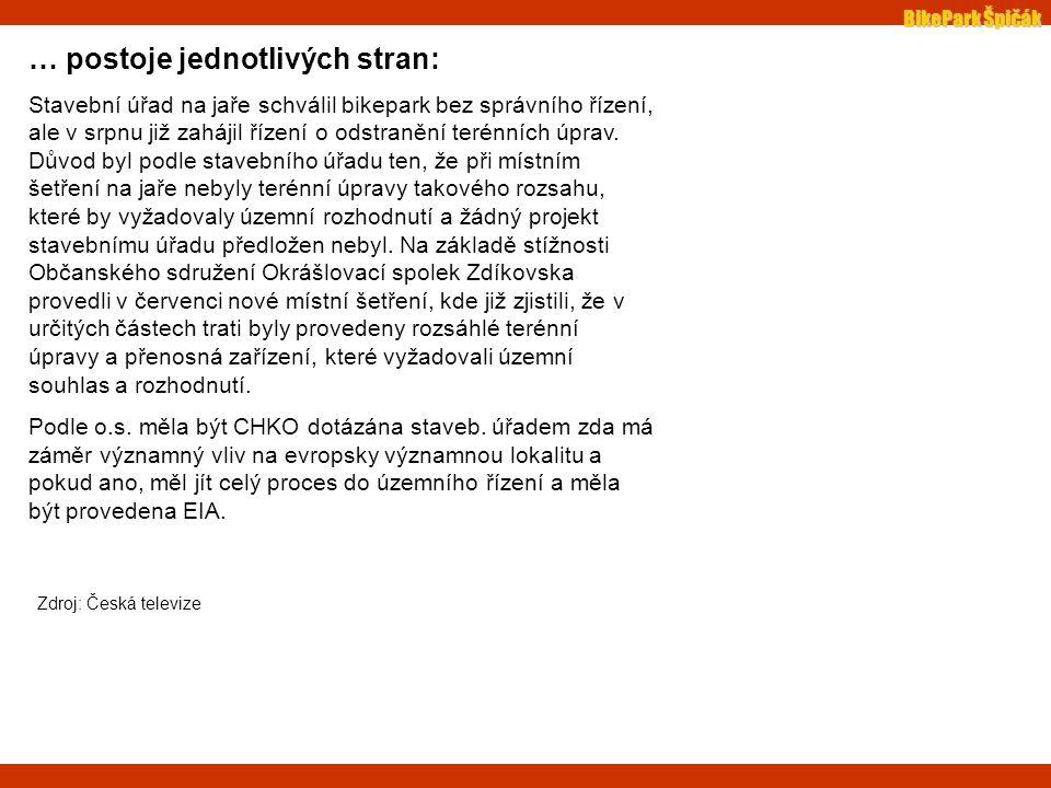 """BikePark Špičák další vyjádření: Pavel Hubený, vedoucí CHKO Šumava: """"Podnikatelský duch by měl dodržovat pravidla, která jsou jasně dána a ve 2."""
