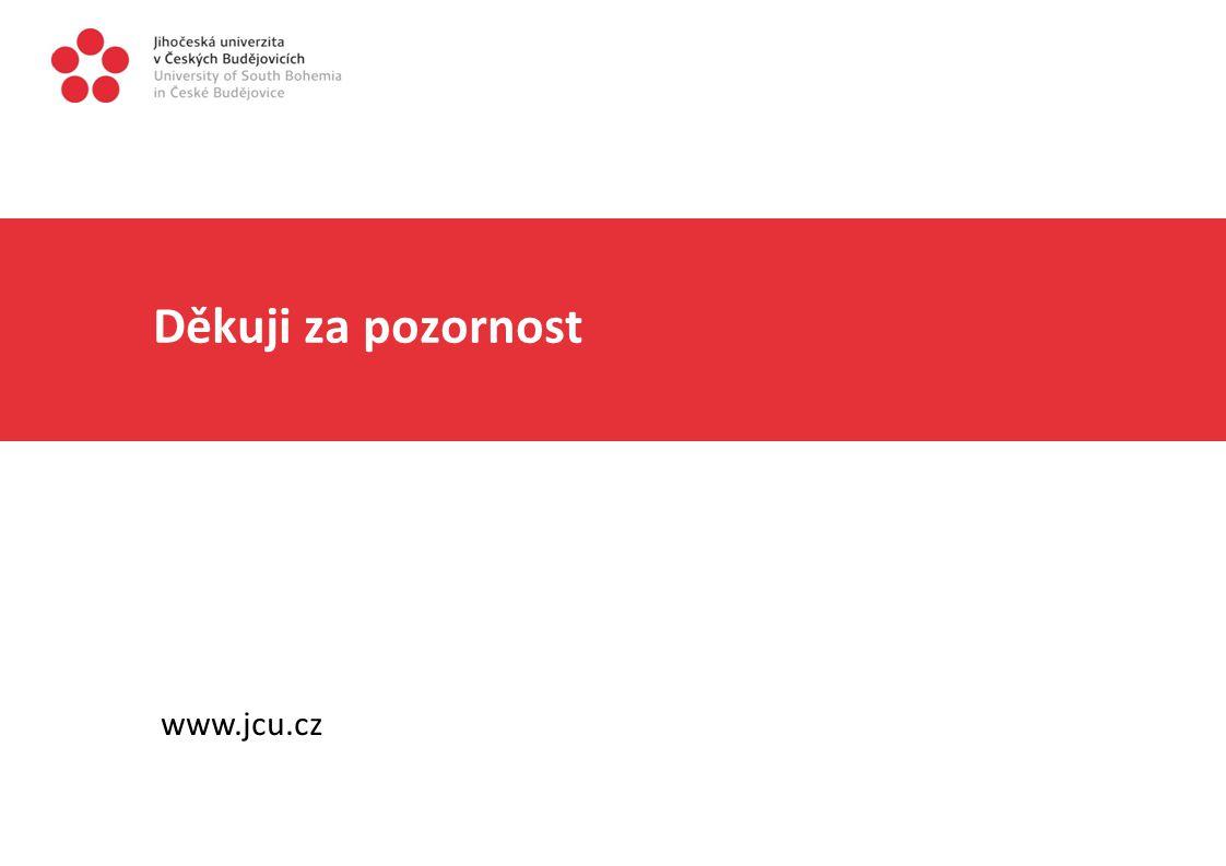 Děkuji za pozornost www.jcu.cz