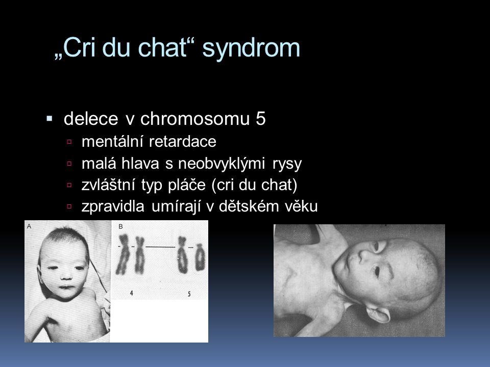 Turnerův syndrom X0 ženy  1:5 000 – jediná známá monosomie u člověka slučitelná se životem  sterilní, pohlavní orgány nevyvinuté; pokud je jim podáv