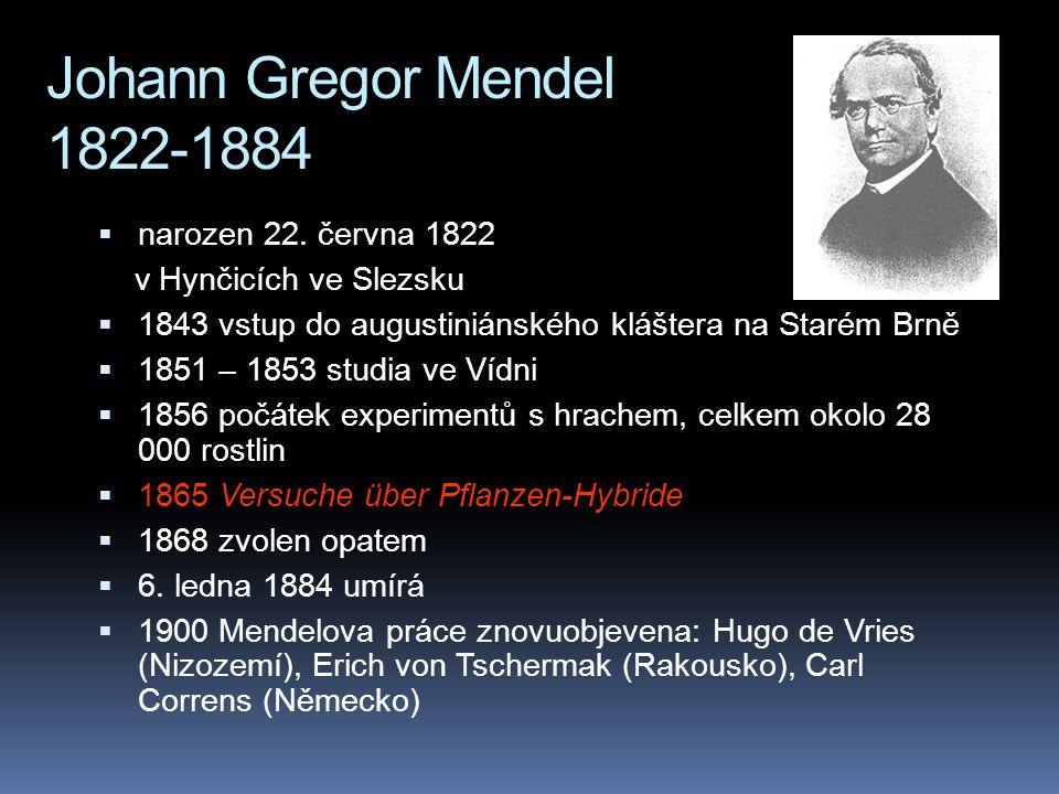 """ termín """"genetika"""" se poprvé objevuje v r. 1905  1909: pojem """"gen""""  1911 termín """"gen"""" proniká do kontinentální Evropy"""