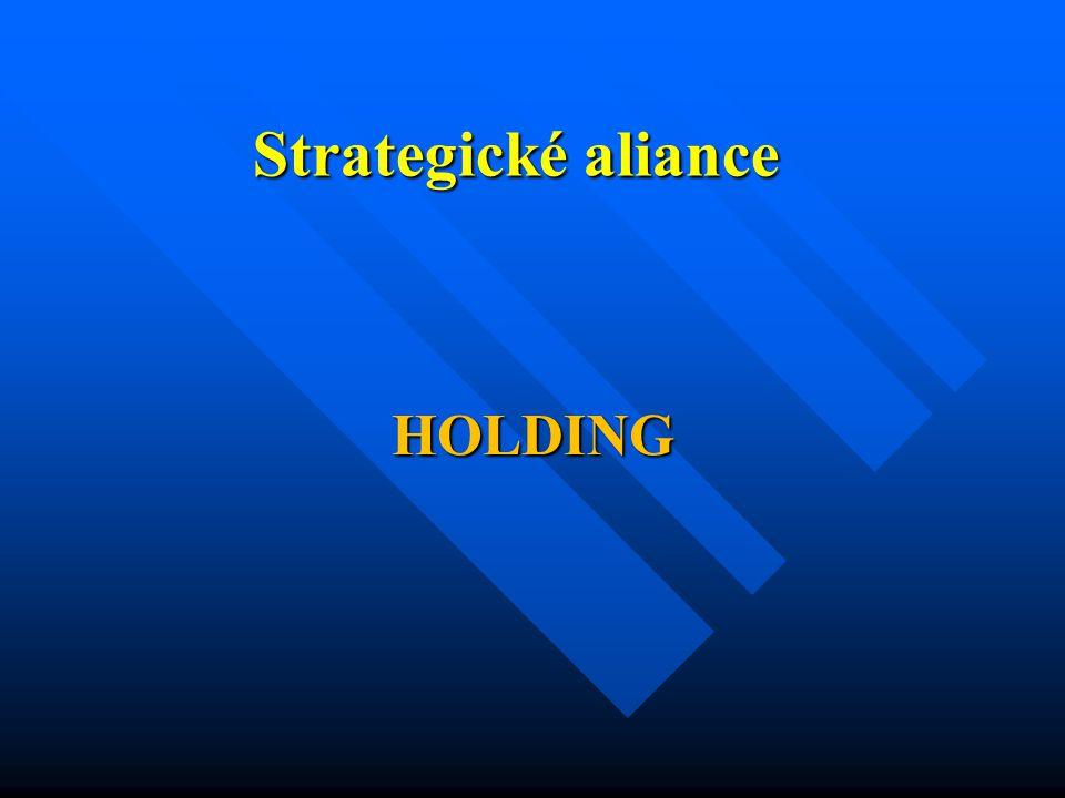 Definice Holding neboli koncern = Kapitálové propojení firem a seskupení obchodních společností, které jsou samostatnými právními subjekty.