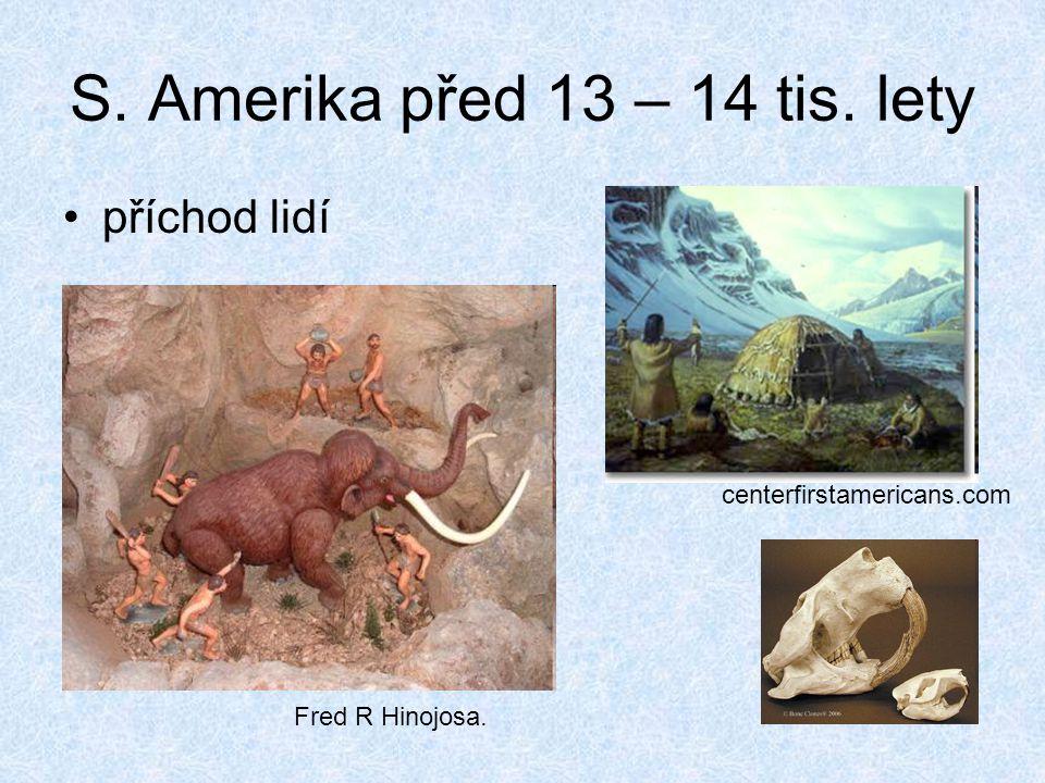 S. Amerika před 13 – 14 tis. lety příchod lidí Fred R Hinojosa. centerfirstamericans.com