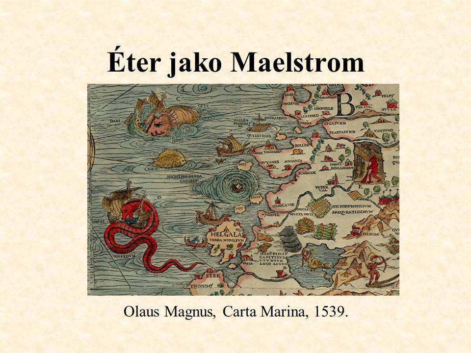 Éter jako Maelstrom Olaus Magnus, Carta Marina, 1539..