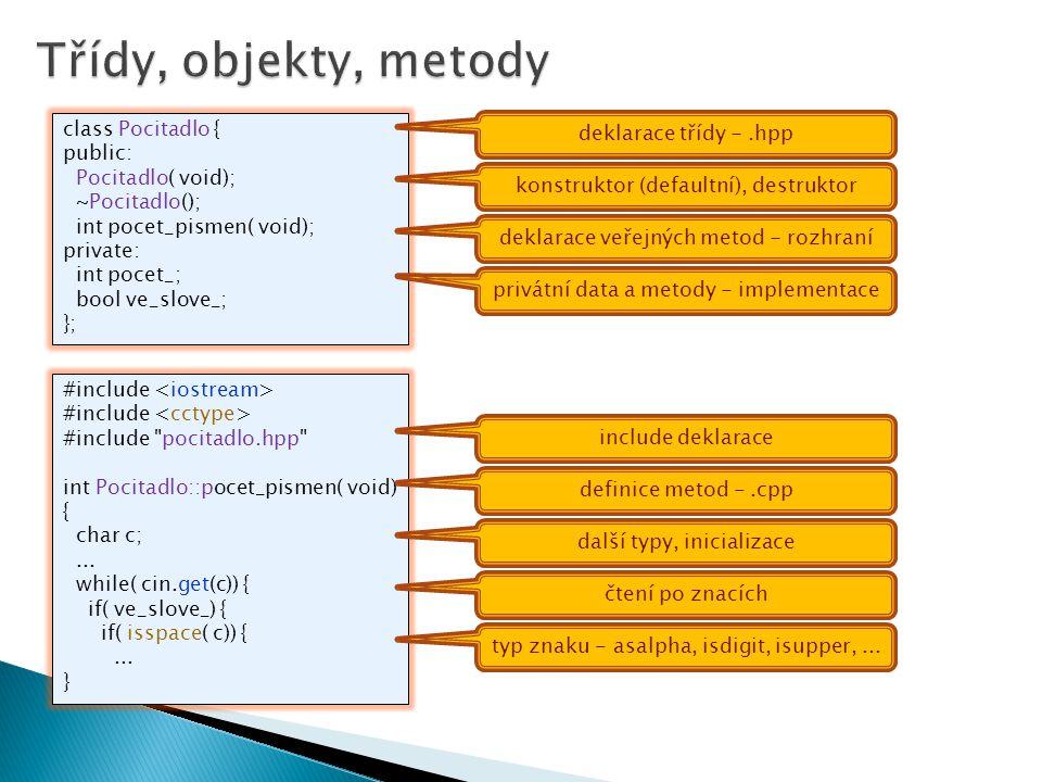 class Pocitadlo { public: Pocitadlo( void); ~Pocitadlo(); int pocet_pismen( void); private: int pocet_; bool ve_slove_; }; #include #include