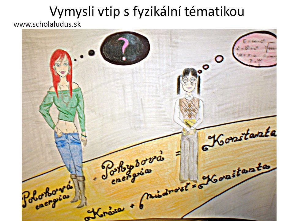 Vymysli vtip s fyzikální tématikou www.scholaludus.sk