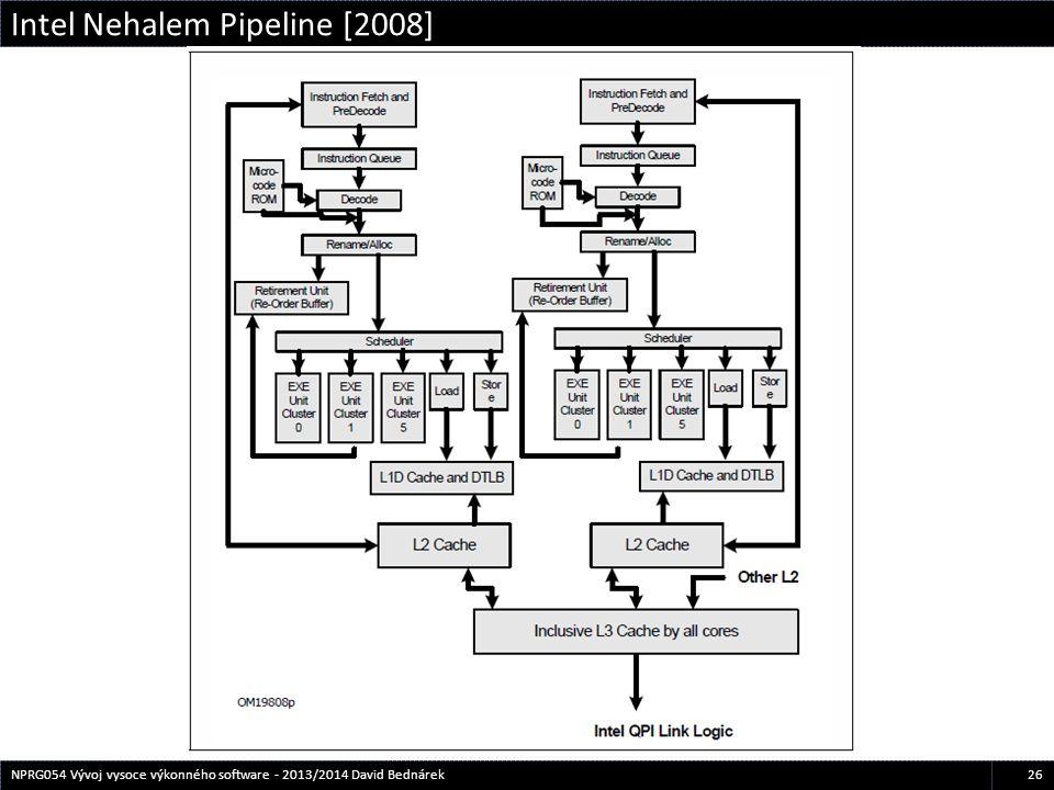 Intel Nehalem Pipeline [2008] 26NPRG054 Vývoj vysoce výkonného software - 2013/2014 David Bednárek