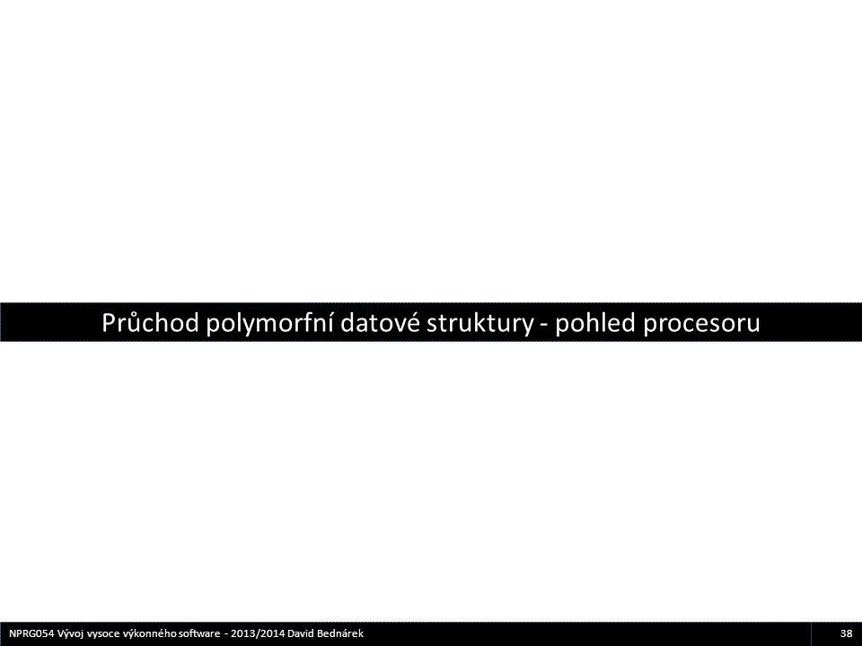 38NPRG054 Vývoj vysoce výkonného software - 2013/2014 David Bednárek Průchod polymorfní datové struktury - pohled procesoru
