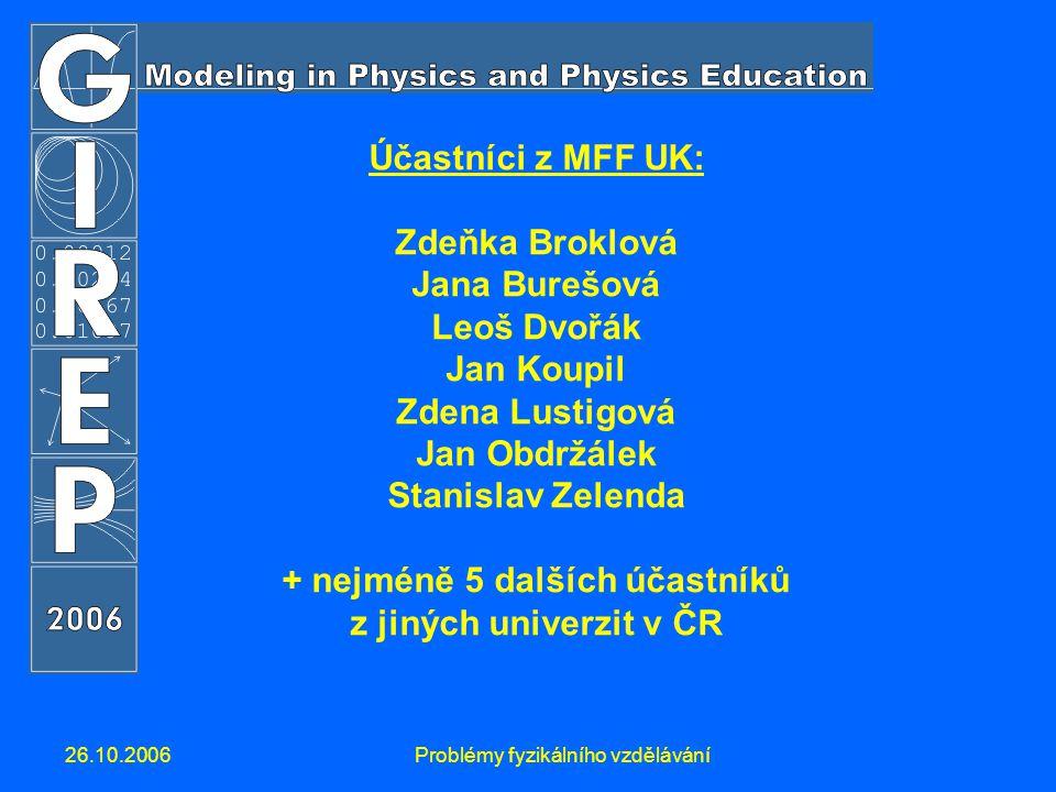 26.10.2006Problémy fyzikálního vzdělávání Co je GIREP.