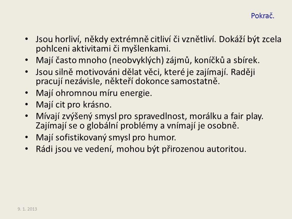 9.1. 2013 Specifika mimořádně nadaných žáků 2.