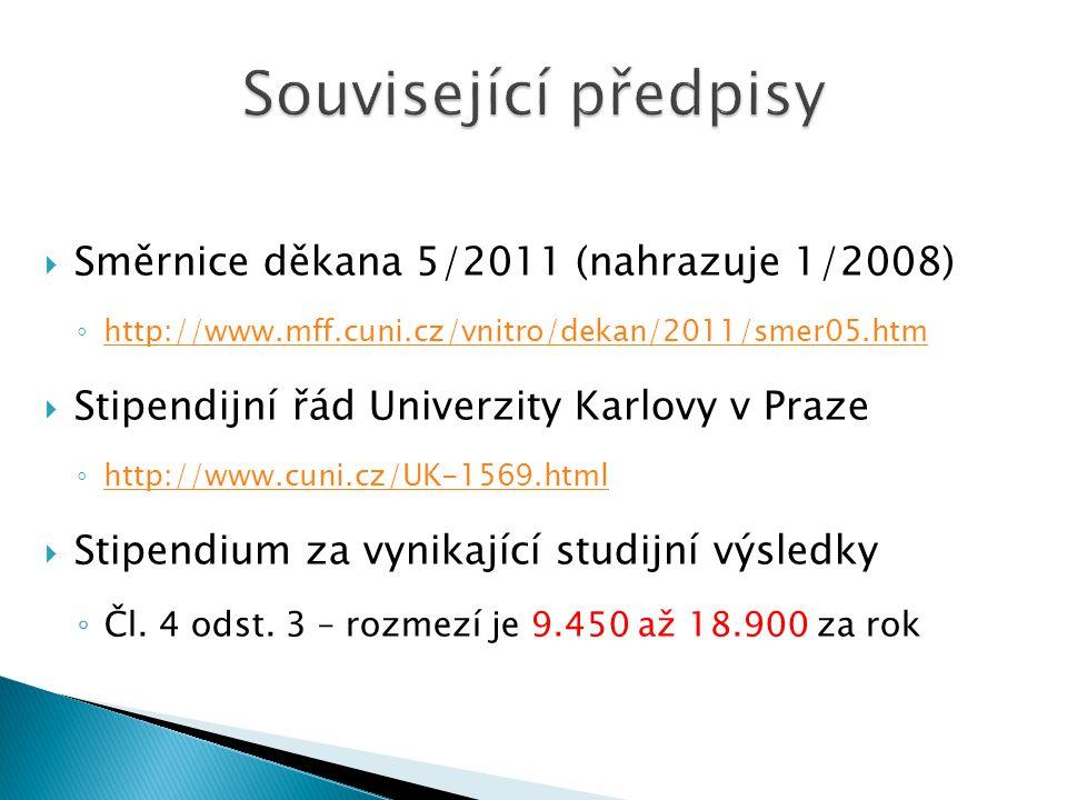  Aktuální výše stipendia 16.200,- ročně ◦ tj.