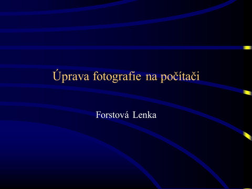 Úprava fotografie na počítači Forstová Lenka
