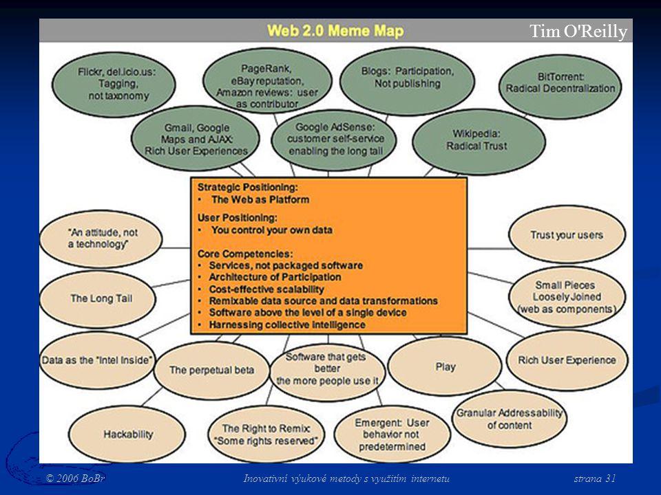 © 2006 BoBr Inovativní výukové metody s využitím internetustrana 31 Tim O Reilly