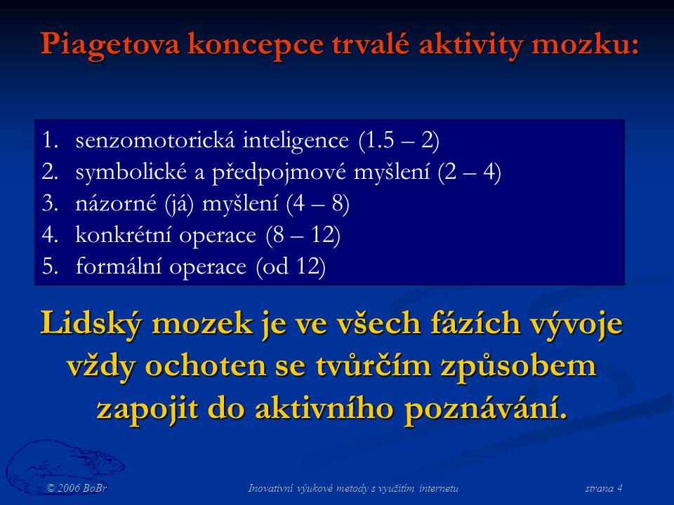 © 2006 BoBr Inovativní výukové metody s využitím internetustrana 25