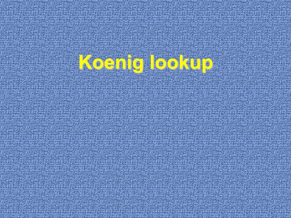 Koenig lookup