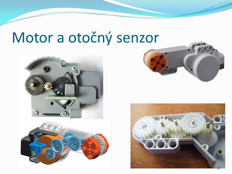 Motor a otočný senzor 18