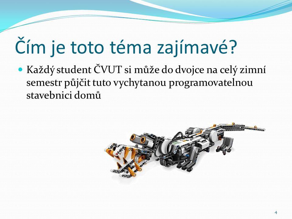 Čím je toto téma zajímavé? 4 Každý student ČVUT si může do dvojce na celý zimní semestr půjčit tuto vychytanou programovatelnou stavebnici domů