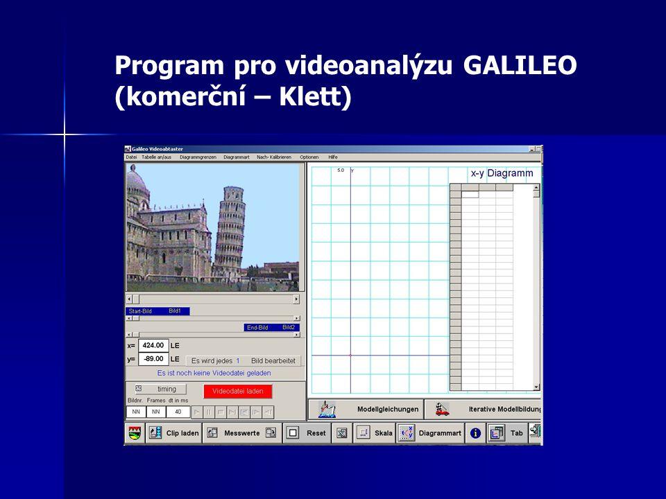 Program pro videoanalýzu GALILEO (komerční – Klett)