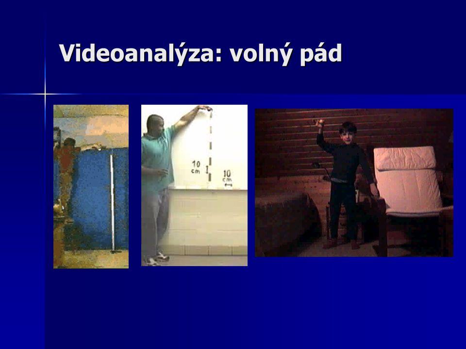 Videoanalýza: volný pád