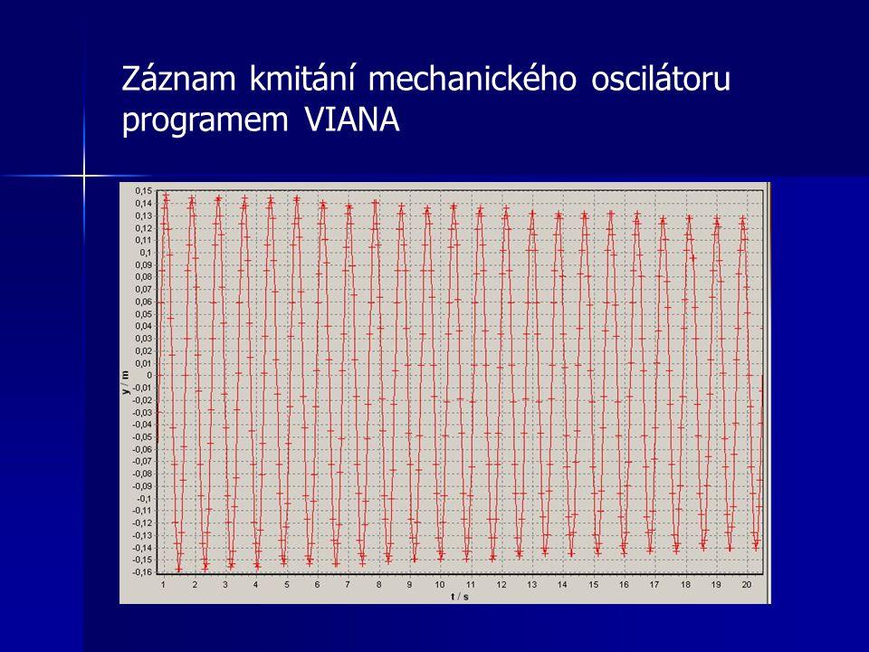 Záznam kmitání mechanického oscilátoru programem VIANA