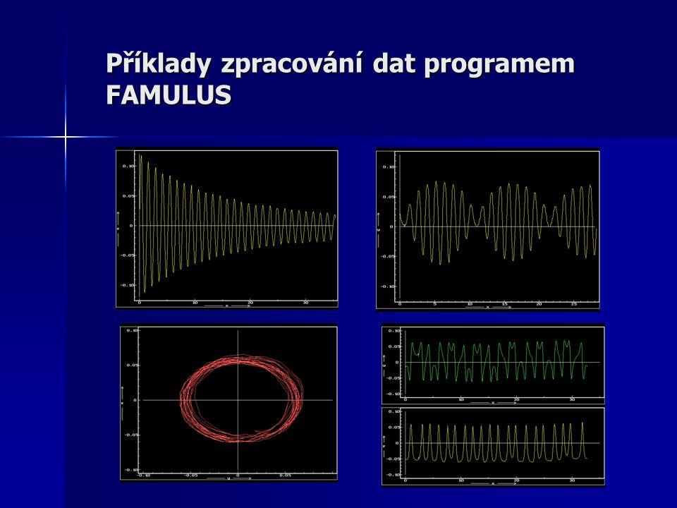 Příklady zpracování dat programem FAMULUS