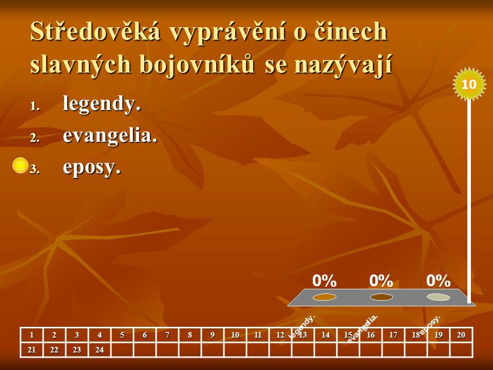 Kosmova Kronika česká je psaná 1.latinsky. 2. česky.