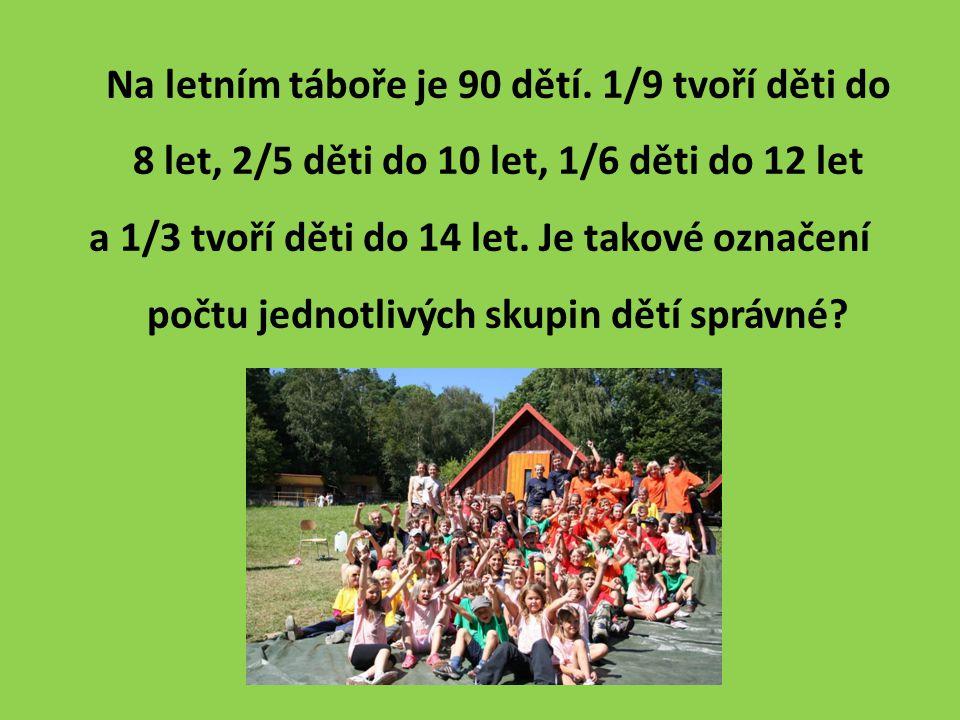 Na letním táboře je 90 dětí.