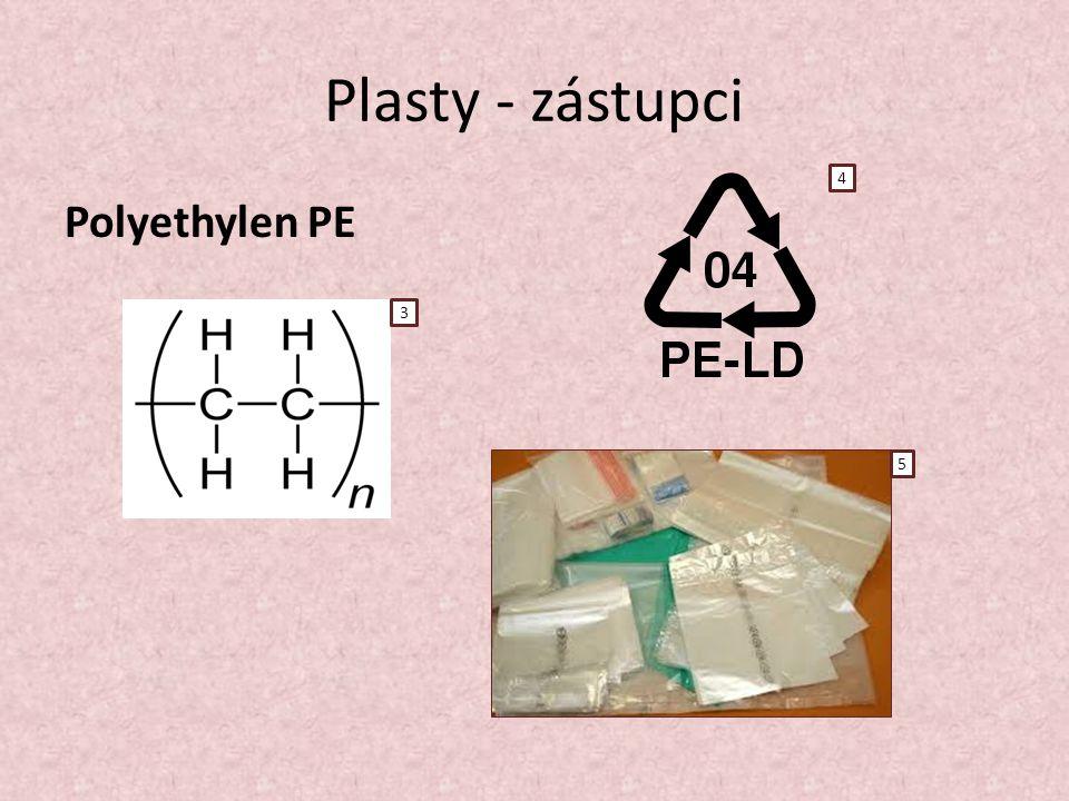 Plasty - zástupci Polyethylen PE 3 4 5
