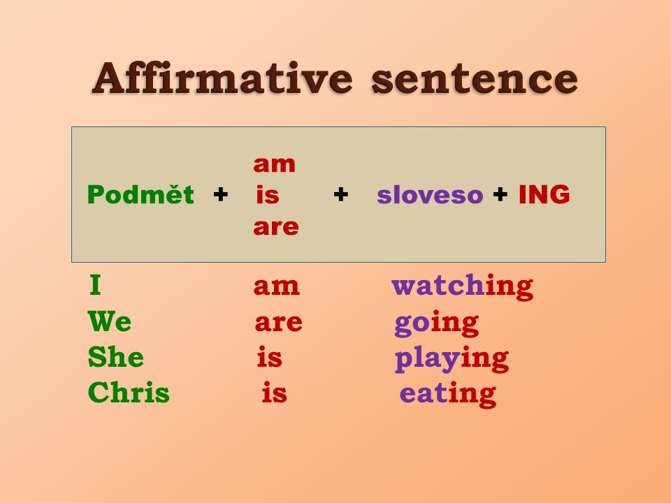 Verbs that end in –e (write, drive, have): write – writing, drive – driving, have – having He is having dinner now.