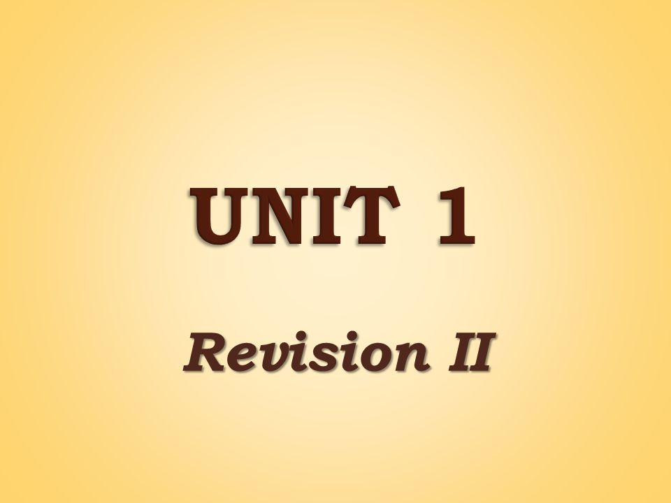 Revision II