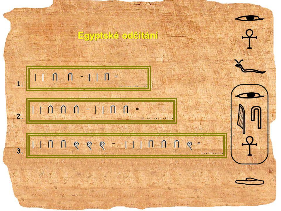 Egyptské odčítání