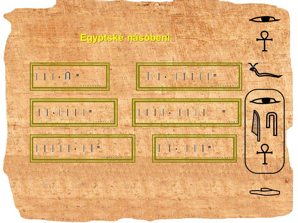 Egyptské násobení