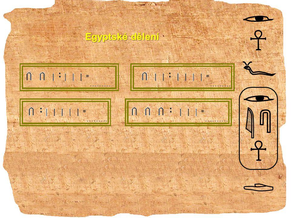 Egyptské dělení