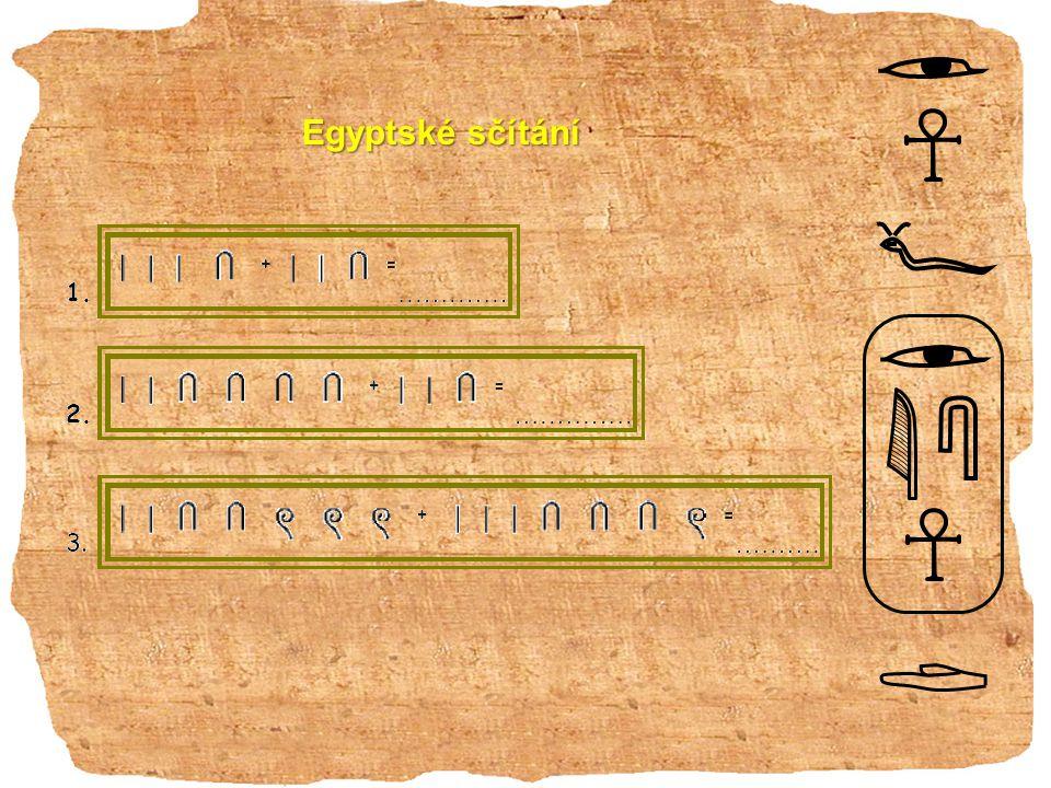 Egyptské sčítání