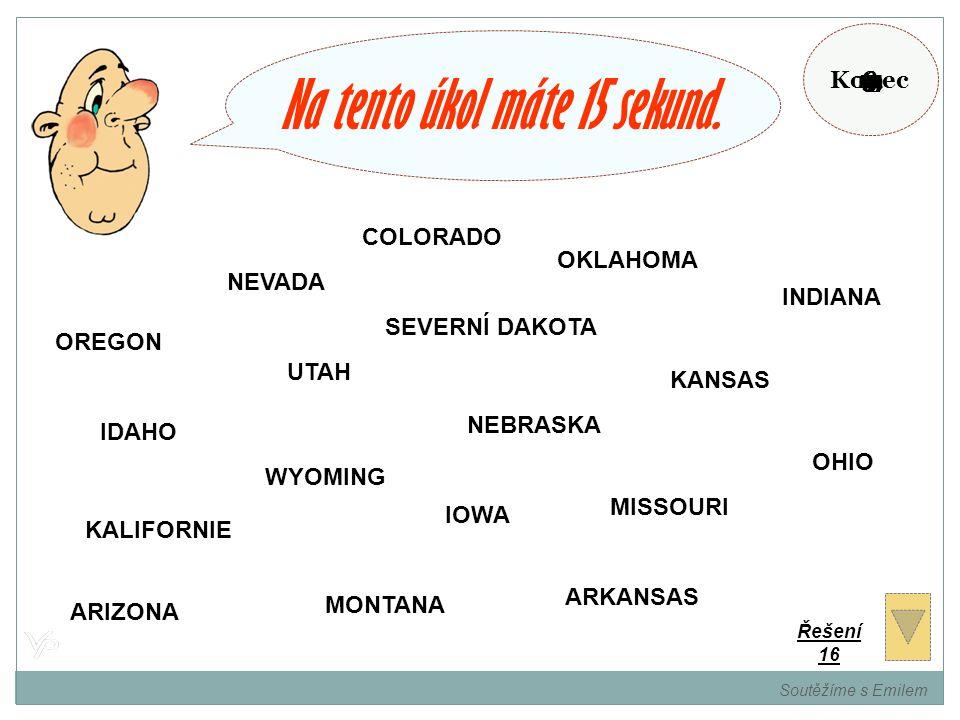 Zapamatujte si státy USA, které jsou v barvě vašeho týmu. Soutěžíme s Emilem