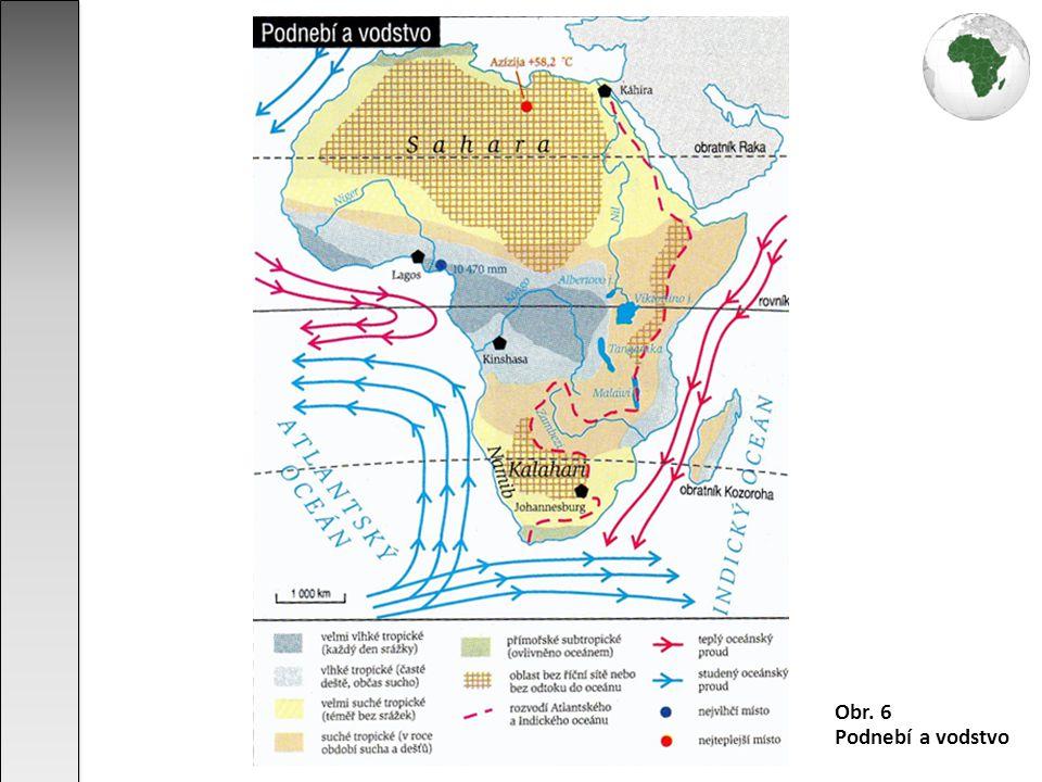 téměř 1/3 povrchu Afriky zaujímají bezodtokové oblasti (např.