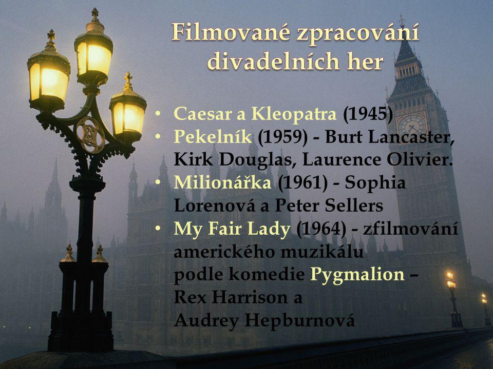 Caesar a Kleopatra (1945) Pekelník (1959) - Burt Lancaster, Kirk Douglas, Laurence Olivier.