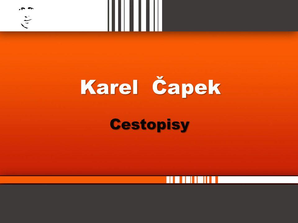 Karel Čapek Cestopisy